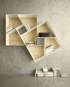 Estanteria Modular Bookcase You may also like: 20 Uberstylish Modular Wall-Mounted Shelving Systems Deco Design, Wood Design, Design Tech, Yanko Design, Design 24, Wood Furniture, Furniture Design, Furniture Ideas, Modular Furniture