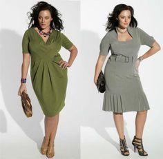 Модные платье для полных женщин
