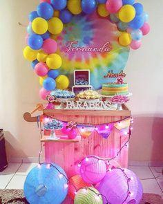 12th Birthday, Boy Birthday, Birthday Parties, Birthday Decorations, Christmas Decorations, Rainbow Lollipops, Tie Dye Party, My Little Pony Wallpaper, Tie Dye Techniques
