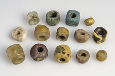 """Beads Glass Grave find: Kylver, Stånga, Gotland, Sweden """