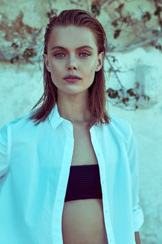 visual optimism; fashion editorials, shows, campaigns & more!: frida gustavsson by andreas sjodin for elle sweden july 2015