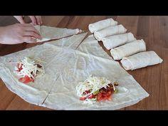 BÖYLESİNİ DAHA ÖNCE GÖRMEDİNİZ😍 HERKESİN KIZARTMA SANACAĞI ÖZEL SOSUYLA FIRINDA PAÇANGA BÖREĞİ - YouTube Food And Drink, Pizza, Cooking Recipes, Chef Recipes, Recipies, Recipes