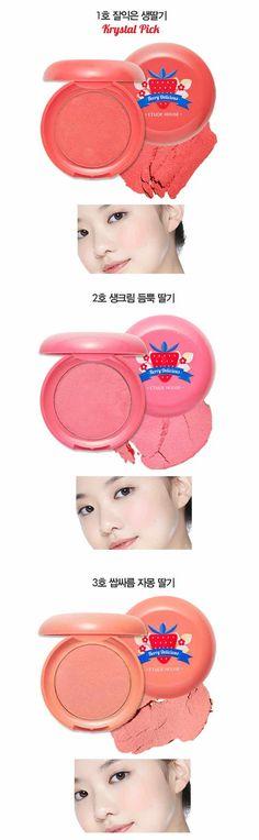 ETUDE HOUSE Berry Delicious Fresh Cream Blusher 6g available at Beauty Box Korea