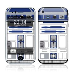 Apple iPhone 3G / 3GS Skin Cover   R2D2 Glossy Matte by skunkwraps, $9.95  And you get a free download so your wallpaper can match your skin!
