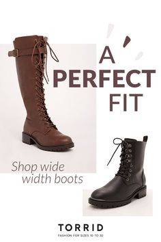 Cute Plus Size Boots. Tons of Choices. Cute Boots and Trendy Boots with a Wider Fit. Shop Today!