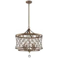 Vel Catena Collection - 4 Light Pendant - 4 Light Pendant in Arcadian Gold