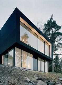 Black house in Sweden.