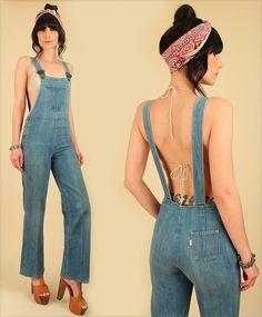 Vintage 70's Levis Denim Jumpsuit // BiB by hellhoundvintage