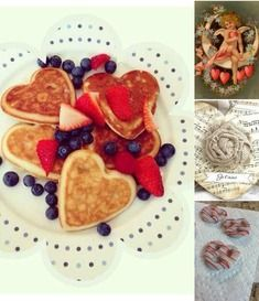 Creative Heart Shaped Food, 25 Decoration Ideas for Valentines Day and Romantic Treats Valentines Breakfast, Valentines Day Treats, Valentines Surprise, Romantic Breakfast, Romantic Food, Breakfast Ideas, Romantic Things, Bbq Dessert, Heart Shaped Pancakes