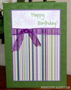 MyNeed2Craft: Birthday card...