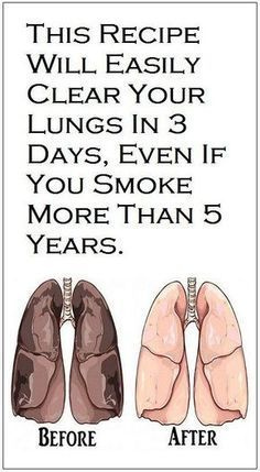 This Recipe Will Easily Clear Your Lungs in 3 Days, Even If You Smoke More Than 5 Years!