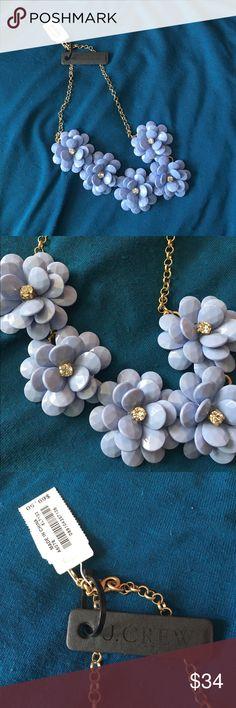 Jcrew statement necklace - floral Pewter color new New with tags jcrew statement necklace J. Crew Jewelry Necklaces