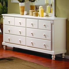 TRIBECCA HOME Macedonia White Dresser