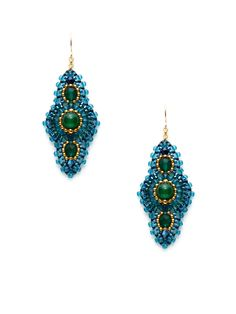 Jade Earrings by Miguel Ases at Gilt