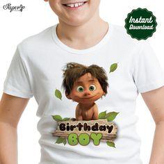 DIY afdrukbare goede dinosaurus opstrijkbare-overdracht, feestvarken, goede dinosaurus partij, goede dinosaurus verjaardag, goede dinosaurus T-shirt