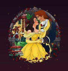 Magical Moment: Belle and Adam by Grodansnagel Arte Disney, Disney Fan Art, Disney Love, Disney Magic, Disney Belle, Beauty And The Beast Art, Belle And Beast, Nickelodeon Cartoons, Disney Couples