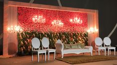 WMG : Themes of the Month - Designer Events Inc Pictures Engagement Stage Decoration, Naming Ceremony Decoration, Wedding Stage Decorations, Backdrop Decorations, Festival Decorations, Indian Wedding Stage, Wedding Reception Backdrop, Night Wedding Decor, Red Rose Wedding
