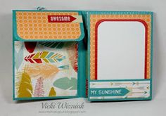 """Here's a super cute """"One Sheet Wonder Mini Album"""" that I made. I used the Free To Be Me paper packet from CTMH. OMG, seriously c..."""