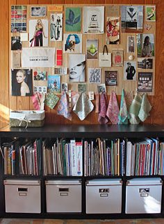 I like this expedit shelf. Could store toys, records and books on it.