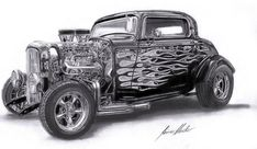 hot rods and girls | Hot Rod Artworks - Drawings, Paintings, Street Rod, Rat Rod | The Car ...