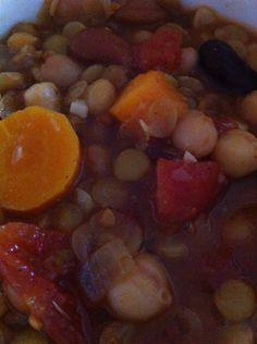 bean. lentil and vegetable soup
