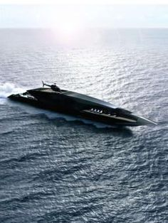 Sleek Black Swan superyacht by Turkish designer Timur Bozca _