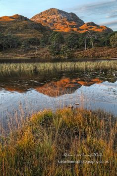 Early morning at Loch Clair, Wester Ross: Sgùrr Dubh in background www.karlwilliamsphotography.co.uk Wester Ross, North Sea, Early Morning, Brave, Scotland, Places To Go, Scenery, Bucket, British