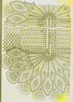 Home Decor Crochet Patterns Part 87 - Beautiful Crochet Patterns and Knitting Patterns Crochet Doily Diagram, Crochet Doily Patterns, Crochet Chart, Thread Crochet, Filet Crochet, Knitting Patterns, Knit Crochet, Beau Crochet, Crochet Home