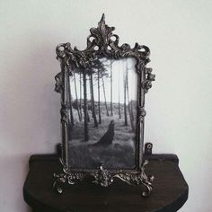 Lovely gothic frame and print Dark Home Decor, Goth Home Decor, Baroque, Gothic Furniture, Gothic House, Gothic Castle, Through The Looking Glass, Decoration, Steampunk