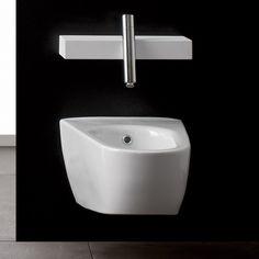 Treemme Wand-Bidet Blok | 6502 | Keramik weiß