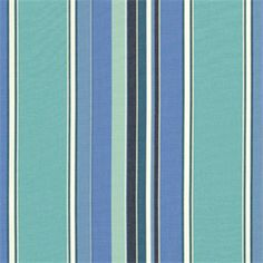 This is a blue and green stripe outdoor fabric by Sunbrella. This fabric is perfect for any indoor or outdoor use. Suitable for drapery, upholstery, umbrellas, marine upholstery.v234PADH