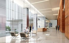 Lobby, Discovery Tower, Downtown Houston