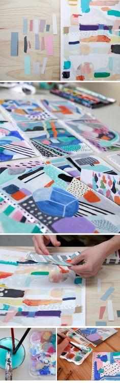 Beautiful bright colours in Swiden's work in progress rug design.