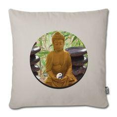 Meditative, asiatische Impression als Kissenbezug. Kuscheln & Relaxing  #Kuscheln #Kuschelkissen #Kissenbezug #gestalten #Wellness #relax #wohlfuehlen #Buddhismus #SPA #asiatisch #Kunst_Germersheim #schlafen #yoga