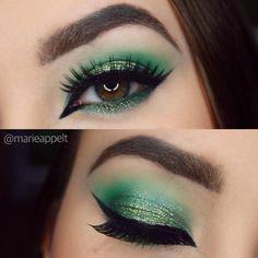 21 Make-up-Looks zum St. Patricks Day - Makeup tips - Make-up Makeup Fx, Artist Makeup, Makeup Guide, Makeup Dupes, Makeup Brush Set, Beauty Makeup, Makeup Geek, Makeup Addict, Beauty Tips