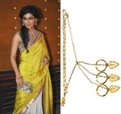 GET THIS LOOK: Chitrangada Singh dresses up her ethnic attire with the 3 finger haathphool by EINA AHLUWALIA.  Shop the statement accessory at http://www.perniaspopupshop.com/designers-1/eina-ahluwalia/eina-ahluwalia-3-finger-haathphool-eac10133fhl.html #perniaspopupshop #jewellery #accessories #love #einaahluwalia #haathphool #chitrangadasingh #celebrity #beautiful #unique #shopnow #happyshopping