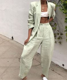 55 The Summer season Swimsuit for Girls You Want,Work and Profssional Outfits Beautiful 55 The Summe Mode Outfits, Fashion Outfits, Womens Fashion, Fashion Tips, Mode Ootd, Vetement Fashion, Linen Suit, Elegantes Outfit, Mode Streetwear