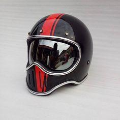 "273 Likes, 3 Comments - Coffee Racer. Arts (@helmetarts) on Instagram: "" caferacer.arts  M50 Vintage Helmet Gloss Custom. Motorcycle Gear Info Order WA : +6281519927442…"""