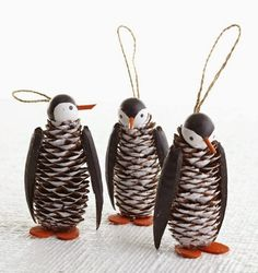 Penguin crafts are great to do especially during the Christmas season as penguins live in cold and snowy environments. Take a look at these cute christmas penguin crafts which give the holidays a personal touch. Kids Crafts, Pinecone Crafts Kids, Pinecone Ornaments, Holiday Crafts, Pine Cone Crafts For Kids, Angel Ornaments, Kids Diy, Penguin Christmas Decorations, Pine Cone Decorations