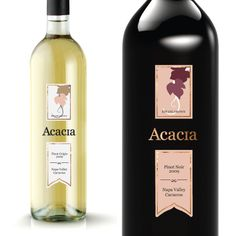 Student Project by Kimberly White - Acacia Vineyard Labels