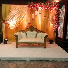 Funny isn't it. The two sides of the decoration will look odd separately. But together they make the stage look just perfect.  Just like you and your better half <3 #bookeventz #wedding #weddingstage #stagedecoration #stagephoto #stagephotography #instapost #instaphoto