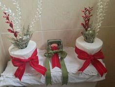 Decoración navideña para el baño