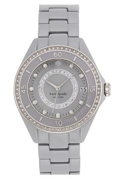 I am in total love with everything about this Kate Spade grey watch!  Grey is THE color for the Fall!