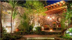 kőfalak építése terméskőből - Szép házak, lakások, 9 Pergola, Outdoor Structures, Garden, Projects, Houses, Log Projects, Homes, Garten, Blue Prints