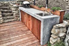 Zementine - zahradní kuchyň