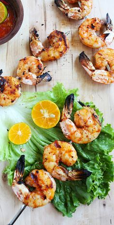 Lemongrass grilled shrimp - delicious grilled shrimp with exotic lemongrass flavors, quick and easy recipe | rasamalaysia.com