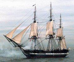"""Old Ironsides,"""" is the world's oldest commissioned warship afloat - Sailing Ships 