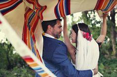 original veil + floral combo
