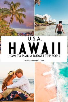 5 ways to plan a trip to Hawaii that will blow your mind. Let's see how you can afford an amazing vacation or honeymoon in one of the most amazing places in the world, without breaking the bank! With tips on how to get away, how to avoid tourist traps. Honeymoon Vacations, Hawaii Honeymoon, Hawaii Vacation, Hawaii Travel, Vacation Spots, Travel Usa, Honeymoon Budget, Vacation Places In Usa, Travel Europe