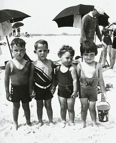 Long Island kids in the at Jones Beach. We spent many summer days at Jones Beach. Love the bathing suits!